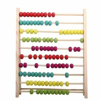 100 Beads Wooden Abacus Counting Number Preschool Kid Math Learning Teaching Aid