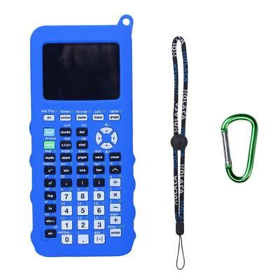 Durable Protective Skins cover for TI-84 Plus CE Calculator w/ Wrist Stap_Blue