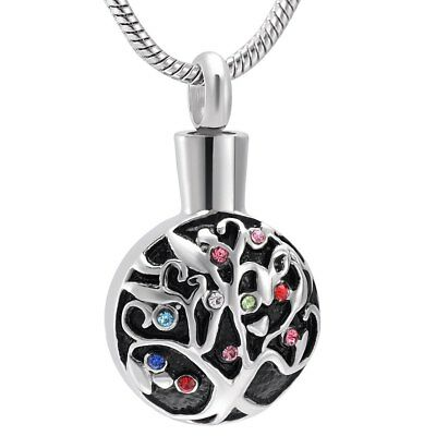 Tree of Life Cremation Jewellery Ashes Urn Pendant Keepsake Memorial Necklace