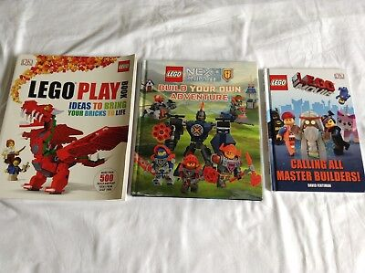 3 LEGO BOOKS Bulk Lot!