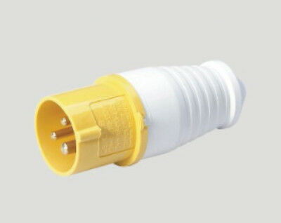 110 Volt 32 Amp Yellow Electrical Industrial Work Site Male Plug