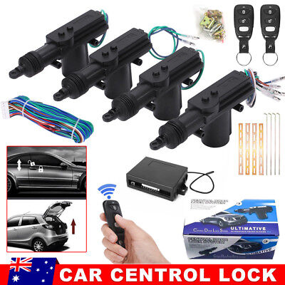4 Door Remote Control Car Central Locking Security System Keyless Entry Kit Lock