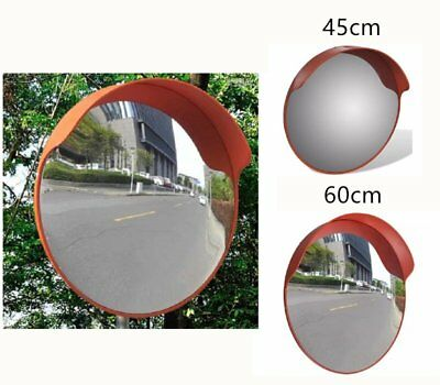 45/60cm Security Convex Road Mirror Traffic Driveway Safety Outdoor PC Plastic C