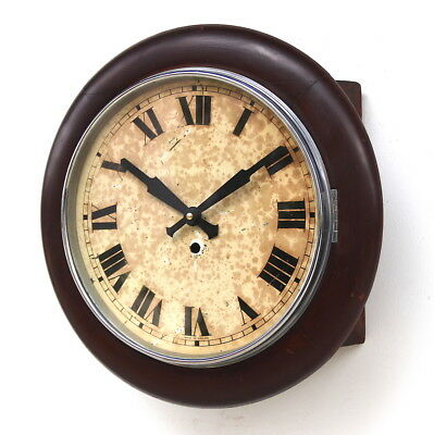 ENGLISH LCC Smiths Midcentury Vintage Retro Industrial Factory School Clock