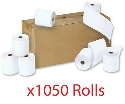 76 x 76mm 2 Ply White Paper Till Cash Register EPOS Kitchen Printer Receipt Roll