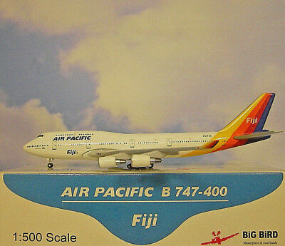 BiG BiRD 1:500  Boeing 747-400  Air Pacific Fiji   DQ-FJK  Modellairport500