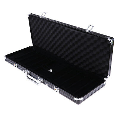 MagiDeal Aluminum Alloy Case 500x Texas Poker Chips Tokens Counters Suitcase