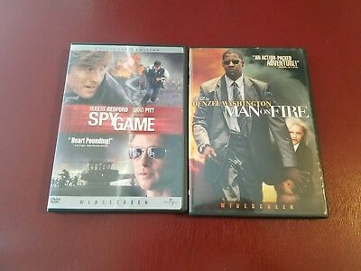 Spy Game and Man On Fire 2 movie set, DVD, like-new condition. Action/thriller.