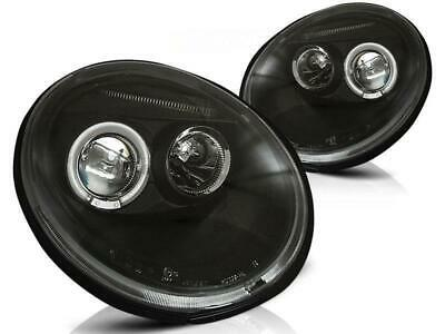 Angel Eyes Scheinwerfer Set Volkswagen New Beetle BJ 10.98-05.05 Klarglas / Schw