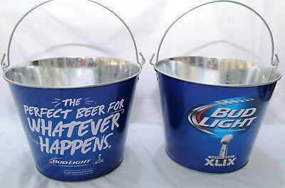 Bud Light, Official Beer of the NFL Super Bowl XLIX, Beer Bucket, Galvanised Tin