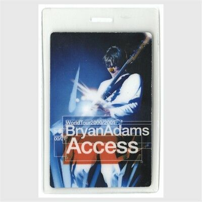 Bryan Adams authentic 2000-2001 concert tour Laminated Backstage Pass ALL ACCESS