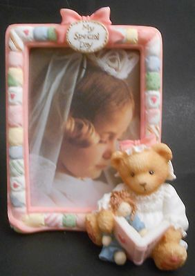 Cherished Teddies Communion Frame GIRL Reading to Doll NEW 136182 First