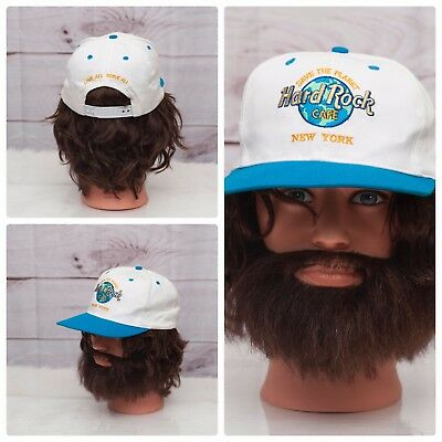 eb90ca73f31 Hard Rock Cafe New York White Blue Save The Planet Snapback Baseball Cap Hat