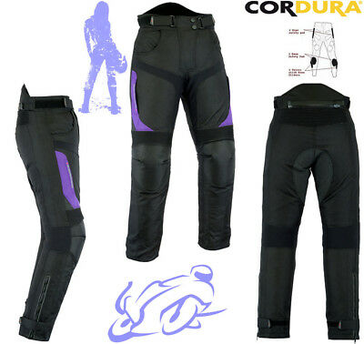 Womens Purple Speed Maxx Ladies Armour Motorbike Motorcycle Motocross Trousers