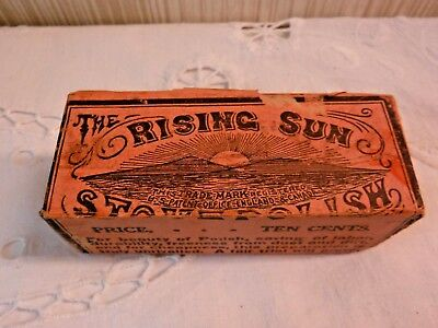 VINTAGE RARE  The RISING SUN Stove Polish UNUSED Cake/ Bar in Orig Wrapper