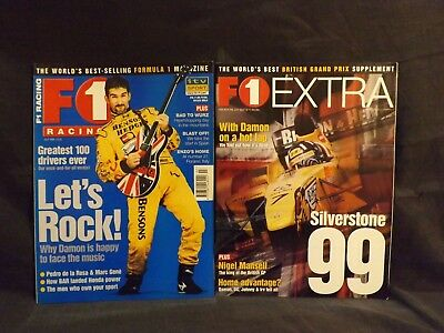 F1 Racing Magazine July 1999. With Original Silverstone 1999 Supplement.