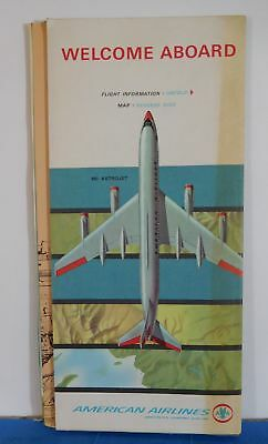 Map American Airlines System Map T197S 1963 April