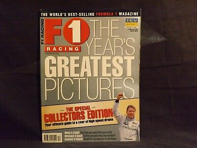 F1 Racing Magazine December 1999. The Year's Greatest Pictures. Damon Hill.