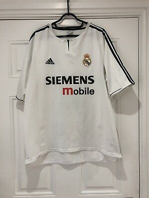 65d4b4538 ZIDANE  5 REAL Madrid Home Football Shirt Jersey 2004 05 (L ...