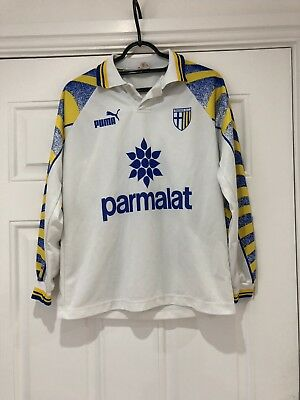 1995-97 Long Sleeved Parma Home Shirt - Small