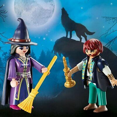 Playmobil Halloween Blister Pack #9309 Witch and Wolfman - New Factory Sealed