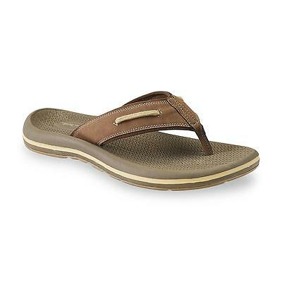 Thom McAn Men's Nautilus 2 Brown Flip-Flop Sandal sizes 8-11