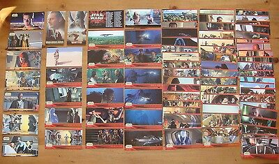 Star Wars - Topps WideVision Trading Cards - Ep. 1/Series 1-74 cards/7 Stickers