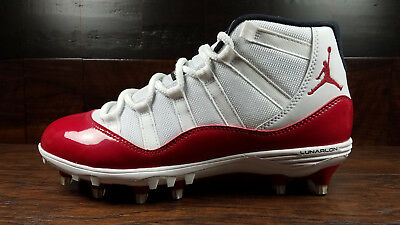 a08c8c377683d5 AIR JORDAN 11 Retro XI (White Gym Red) TD Football Cleat  AO1561-101 ...