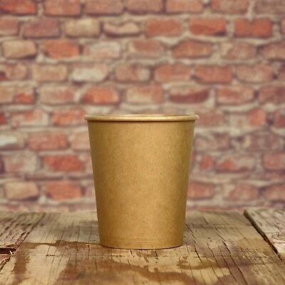 8 oz Paper Coffee Cups - Kraft Hot Drink Disposable Cups - Hot Cup Factory