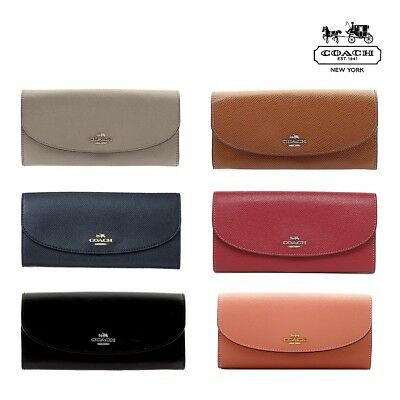 NWT COACH Slim Envelope Wallet Leather Large Bilfold Coin Zipper F54009 NEW