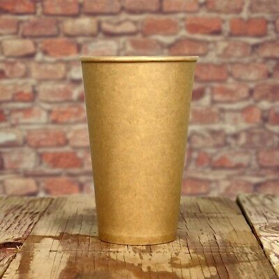 12 oz Paper Coffee Cups - Kraft Hot Drink Disposable Cups - Hot Cup Factory