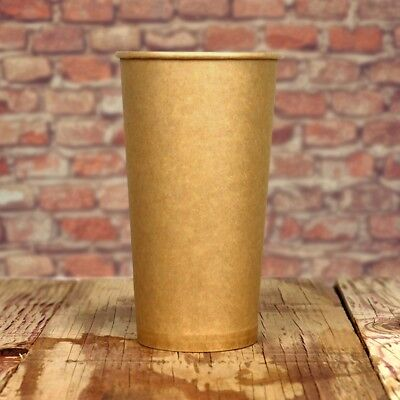 20 oz Paper Coffee Cups - Kraft Hot Drink Disposable Cups - Hot Cup Factory