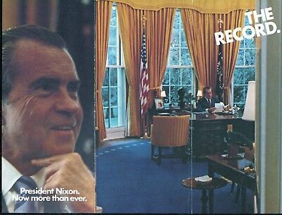 1972 Committee to Re-Elect President Richard Nixon Campaign Brochure The Record