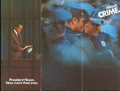 1972 Committee to Re-Elect President Richard Nixon Brochure About Crime