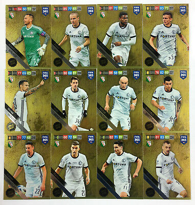 2019 FIFA 365 ADRENALYN XL - set of 12 Limited Edition cards LEGIA WARSZAWA
