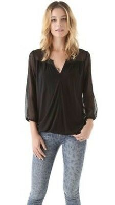 9c27493760e5c5 Soft Joie NWT Womens Size M Precious Black Viscose Holiday Blouse New!