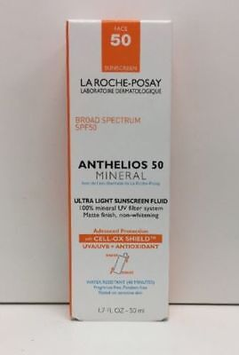 La Roche-Posay Anthelios 50 Mineral Ultra Light Sunscreen Fluid 1.7Oz  EXP 2020