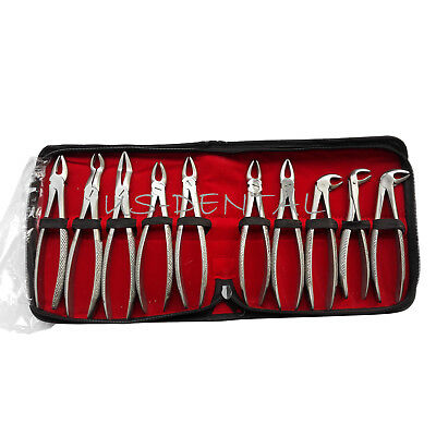Dental Forceps Tooth Extraction Adult Tooth Extracting Forceps--10pcs/Set