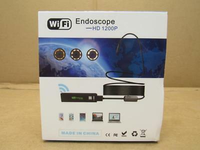 Wifi Endoscope 1200P HD Wifi Borescope Inspection Camera with 2.0MP NEW