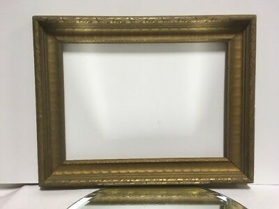 """VTG. Art Deco Arts and Crafts Mission Wood Picture Frame Fits 10""""x14"""""""