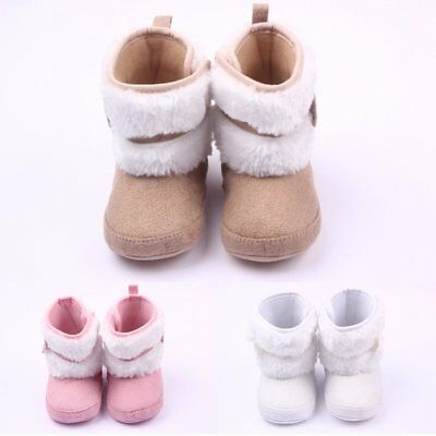 Baby Girl Boy Snow Boots Winter Booties Newborn Infant Toddler Crib Shoes US