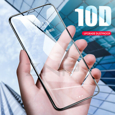 For iPhone X XS MAX XR 8 7 6 10D Full Cover Tempered Glass Screen Protector Lwx