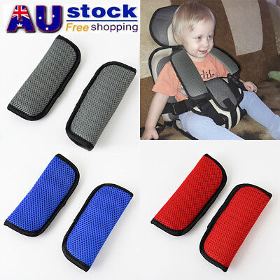 AU 2pcs Baby Child Car Seat Safety Belt Strap Cover Pad Cushion Shoulder Holder