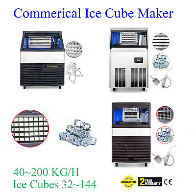 40~200 KG Commercial Ice Cube Maker Machine Auto Clean Reservation Function 110V