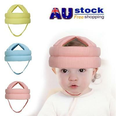 AU Baby Toddler Training Safety Helmet Headguard Head Protection Cap Harnesses