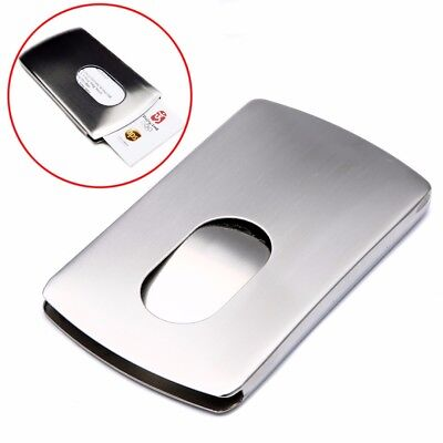 1Pcs Wallet Business Stainless Steel Name Credit ID Card Holder Pocket Case