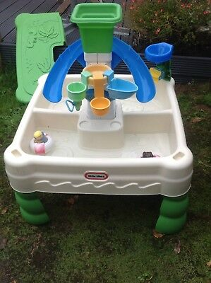 Little Tikes Sand & Water Table With Lid, Water Mill, Toys And Figures