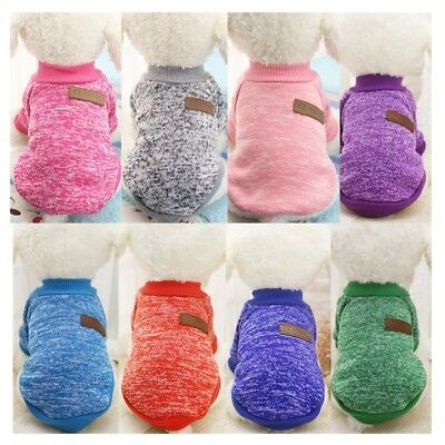 US Small Dogs Soft Pet Dog Sweater Summer Chihuahua Clothes Classic Pets Outfit