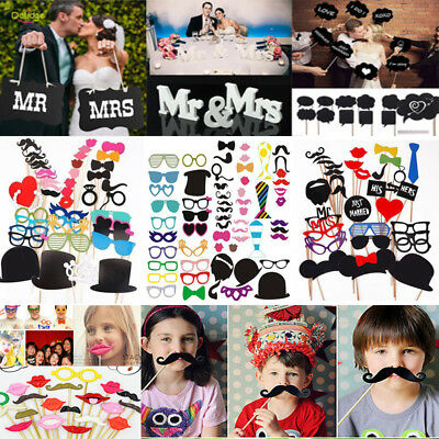 Photo Booth Props Wedding Birthday Party On A Stick Masks Selfie Mustache Fun