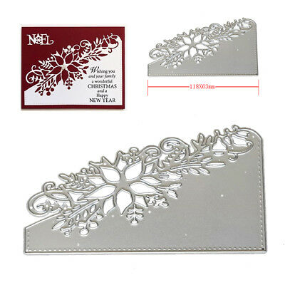 Christmas Craft Metal Cutting Dies Xmas DIY Postcards 3D Stamp Flower Corner